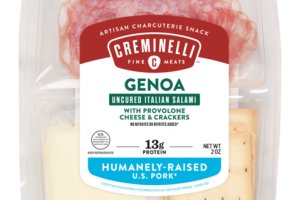 GENOA WITH PROVOLONE CHEESE & CRACKERS UNCURED ITALIAN SALAMI