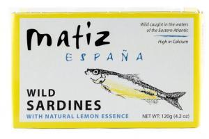 WILD SARDINES WITH NATURAL LEMON ESSENCE
