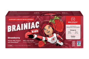 STRAWBERRY WHOLE MILK YOGURT WITH BRAINPACK