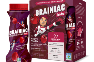 CHERRY VANILLA WHOLE MILK YOGURT DRINK WITH BRAINPACK