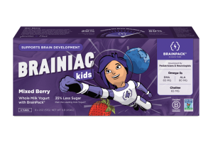 MIXED BERRY WHOLE MILK YOGURT WITH BRAINPACK