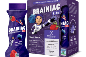 MIXED BERRY WHOLE MILK YOGURT DRINK WITH BRAINPACK