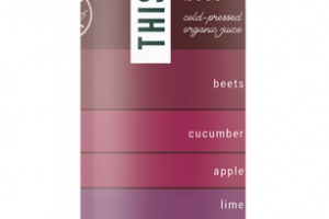 BEETS, CUCUMBER, APPLE, LIME, SPINACH, ALOE VERA, CHARD, GINGER & MANGOSTEEN BALANCED BEET COLD-PRESSED ORGANIC JUICE