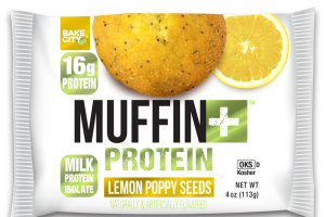 LEMON POPPY SEEDS FLAVORED MUFFIN + PROTEIN