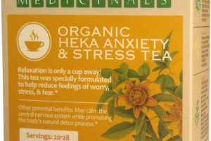 ORGANIC HEKA ANXIETY & STRESS TEA HERBAL SUPPLEMENT