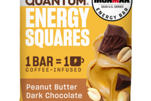 PEANUT BUTTER DARK CHOCOLATE ENERGY SQUARES BAR