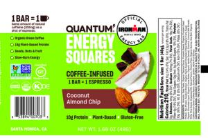 COCONUT ALMOND CHIP COFFEE-INFUSED ENERGY SQUARES BAR