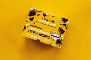PEANUT BUTTER DARK CHOCOLATE COFFEE-INFUSED ENERGY SQUARES BARS