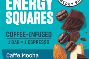 CAFFE MOCHA ALMOND CHIP COFFEE-INFUSED ENERGY SQUARES BAR