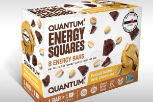 PEANUT BUTTER DARK CHOCOLATE ENERGY SQUARES BARS