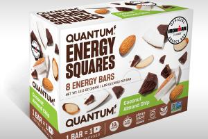 COCONUT ALMOND CHIP ENERGY SQUARES BARS