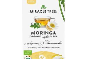 LEMON & CHAMOMILE CAFFEINE FREE MORINGA ORGANIC SUPERFOOD TEA BAGS
