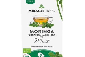 MINT MORINGA ORGANIC SUPERFOOD TEA BAGS