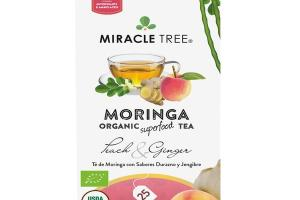 PEACH & GINGER MORINGA ORGANIC SUPERFOOD TEA BAGS