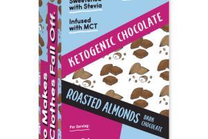 ROASTED ALMONDS 65% COCOA DARK CHOCOLATE KETOGENIC BARS