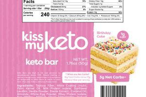 BIRTHDAY CAKE KETO BAR