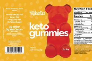 APPLE, STRAWBERRY, PEACH FRUITY KETO GUMMIES