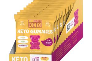 PEACH, APPLE, STRAWBERRY KETO GUMMIES