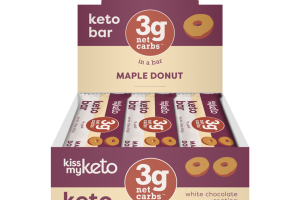 WHITE CHOCOLATE COATING MAPLE DONUT KETO BAR