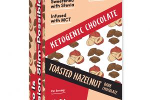TOASTED HAZELNUT KETOGENIC DARK CHOCOLATE