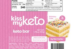 BIRTHDAY CAKE KETO BAR