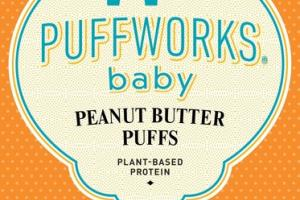 PEANUT BUTTER PLANT-BASED PROTEIN BABY PUFFS