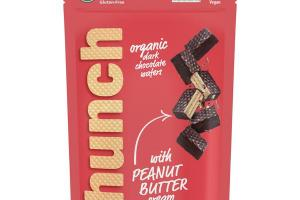 ORGANIC DARK CHOCOLATE WAFERS WITH PEANUT BUTTER CREAM