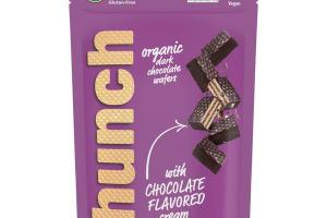 ORGANIC DARK CHOCOLATE WAFERS WITH CHOCOLATE FLAVORED CREAM
