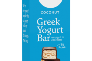 COCONUT GREEK YOGURT BAR WRAPPED IN CHOCOLATE