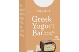 VANILLA GREEK YOGURT BAR WRAPPED IN CHOCOLATE