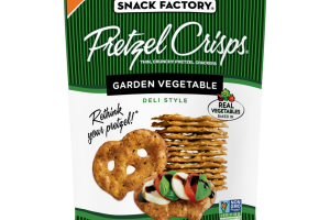 GARDEN VEGETABLE DELI STYLE THIN, CRUNCHY PRETZEL CRACKERS