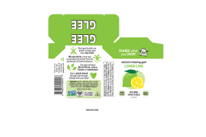 LEMON LIME XYLITOL SWEETENED NATURAL CHEWING GUM