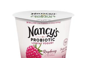 RASPBERRY REAL FRUIT ON THE BOTTOM PROBIOTIC LOWFAT YOGURT