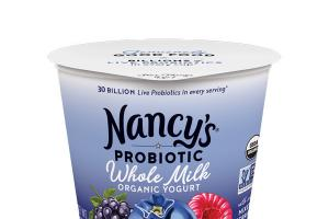 PROBIOTIC WHOLE MILK ORGANIC YOGURT WITH REAL MIXED BERRIES ON THE BOTTOM