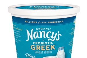 ORGANIC PLAIN PROBIOTIC GREEK NONFAT YOGURT