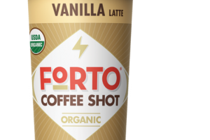 VANILLA LATTE FLAVORED COLD BREW COFFEE WITH MILK COFFEE SHOT