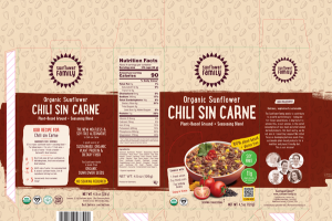 CHILI SIN CARNE ORGANIC SUNFLOWER PLANT-BASED GROUND + SEASONING BLEND