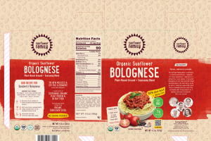 BOLOGNESE ORGANIC SUNFLOWER PLANT-BASED GROUND + SEASONING BLEND