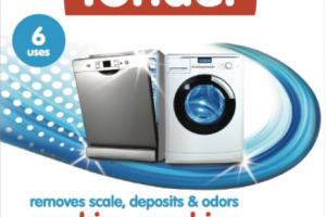 CLEANS & DESCALES WASHING MACHINE & DISHWASHER CLEANER