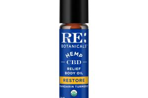 RESTORE HEMP 500 MG, CBD RELIEF BODY OIL MANDARIN TURMERIC