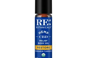 HEMP CBD 500 MG RESTORE RELIEF BODY OIL, MANDARIN TURMERIC