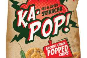 RED & GREEN SRIRACHA ANCIENT GRAIN POPPED CHIPS