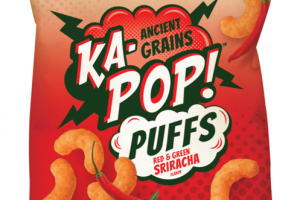 RED & GREEN SRIRACHA FLAVOR ANCIENT GRAINS PUFFS