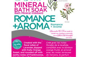 ROMANCE + AROMA MINERAL BATH SOAK LAVENDER + ROSE