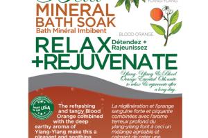 RELAX+ MINERAL BATH SOAK BLOOD ORANGE