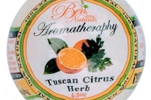 AROMATHERAPY 100% NATURAL BATH BOMB TUSCAN CITRUS HERB