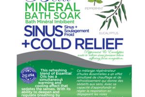 MINERAL BATH SOAK, SINUS + COLD RELIEF