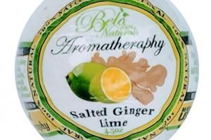 100% NATURALS AROMATHERAPY BATH BOMB SALTED GINGER LIME