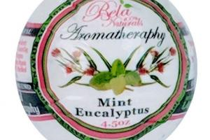100% NATURALS AROMATHERAPY BATH BOMB MINT EUCALYPTUS