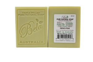 TRIPLE MILLED PURE NATURAL SOAP FRENCH PEAR
